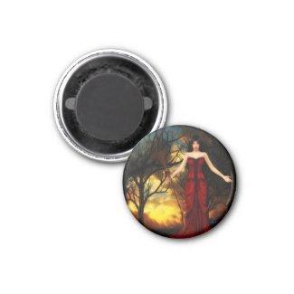 Pagan Goddess Witch Halloween Magnet