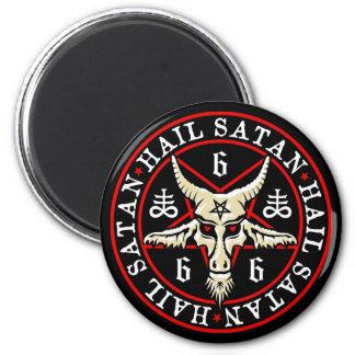 Pagan Hail Satan Baphomet Goat in Pentagram Refrigerator Magnets