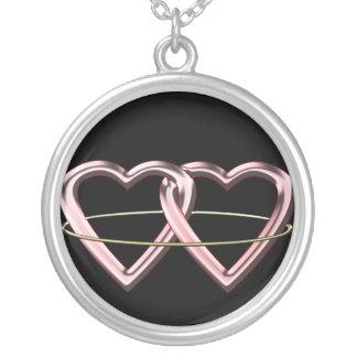 Pagan Marriage Symbol Round Pendant Necklace
