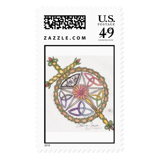 Pagan meets Christian Stamps