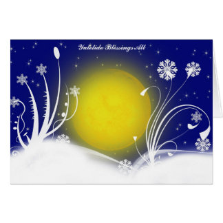 Pagan Moon Yuletide Blessings Card