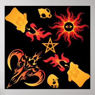 Pagan motif poster