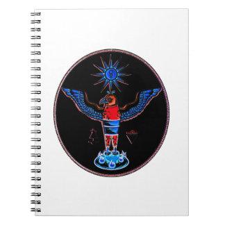 pagan negro azteca design.p de los símbolos del so libro de apuntes con espiral
