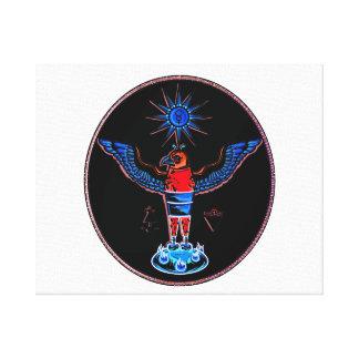 pagan negro azteca design.p de los símbolos del so lona estirada galerias