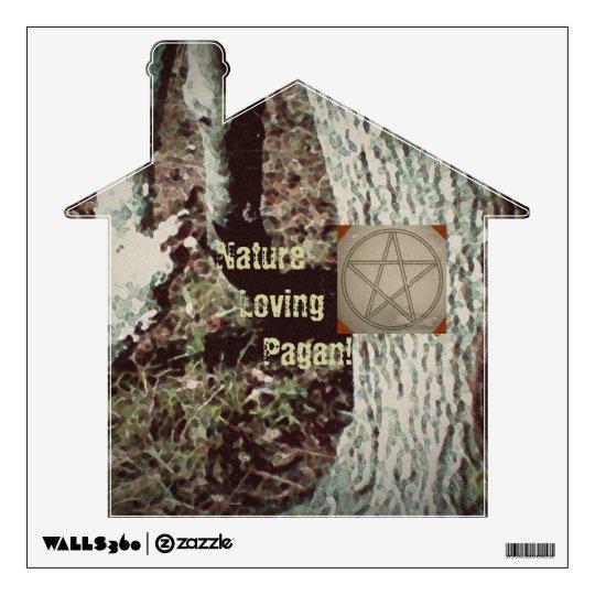 Pagan Oak Pentacle Wall Decal