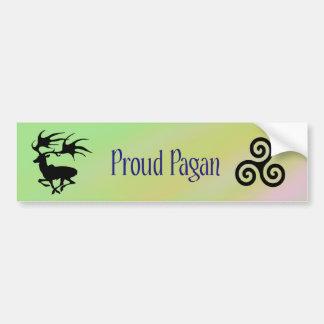 Pagan orgulloso pegatina de parachoque