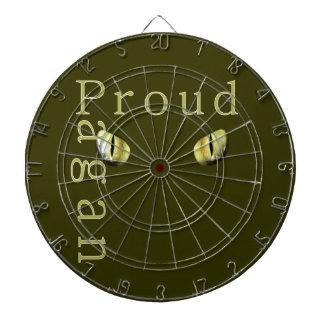 Pagan orgulloso tabla dardos