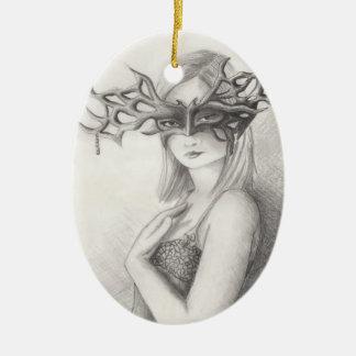 Pagan Ornament Mask Ornament
