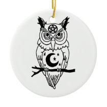 Pagan Owl Ceramic Ornament