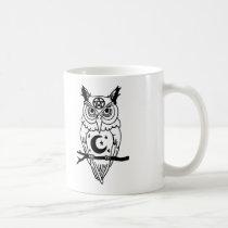 Pagan Owl with Pentacle and Moon Coffee Mug