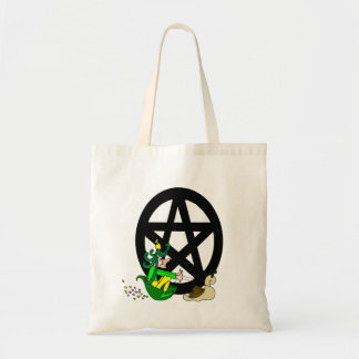 Pagan Pentacle and Faerie Tote Bag