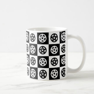 Pagan Pentacle Checkerboard Coffee Mug