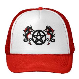 Pagan Pentacle with Dragons Baseball Hat
