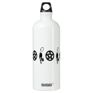 Pagan Pentacles and Black Cats Water Bottle