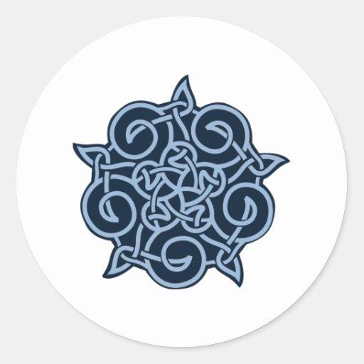 Pagan Pentagram de cinco puntos Pegatina Redonda