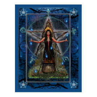 Pagan Postcard - Spellweaver Witch 'Blue ~ Water'