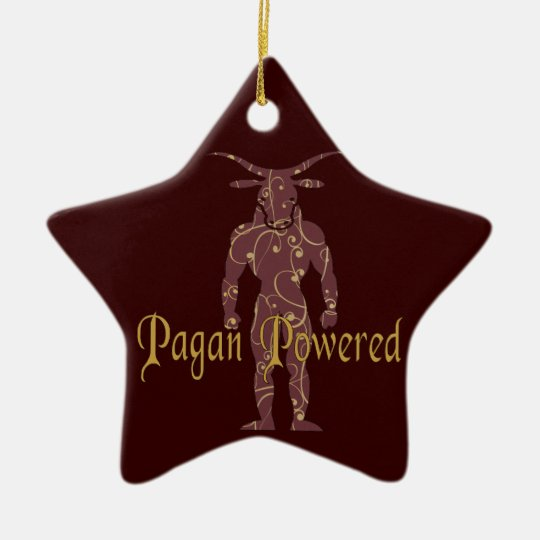Pagan Powered Ceramic Ornament