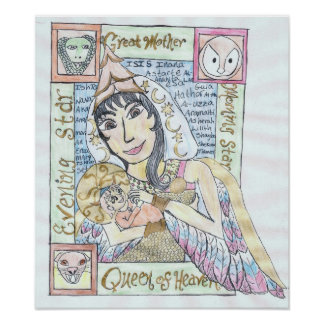 Pagan Queen of Heaven and Holy Child Poster
