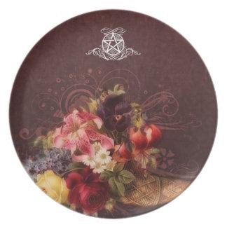 Pagan Renaissance: Cornucopia Pentacle Melamine Plate