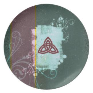Pagan Renaissance: Oestara Triskel Melamine Plate