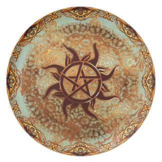 Pagan Renaissance: Solstice Pentacle Melamine Plate