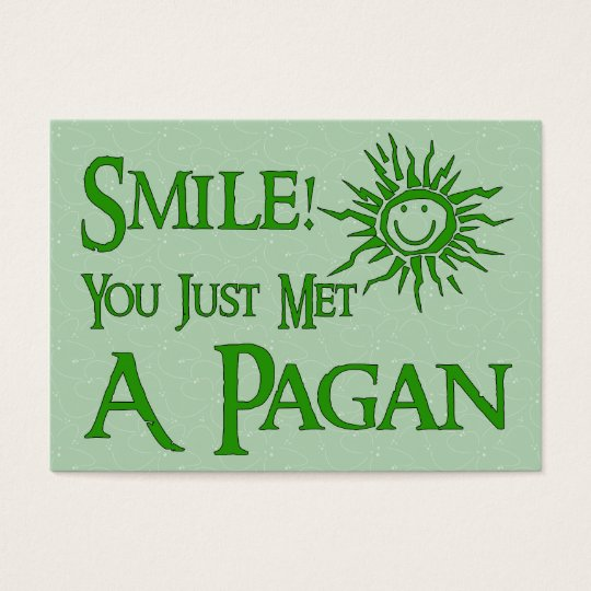 Pagan Smile Business Card