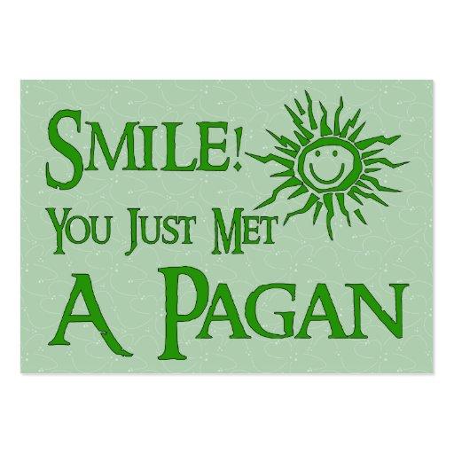 Pagan Smile Large Business Card