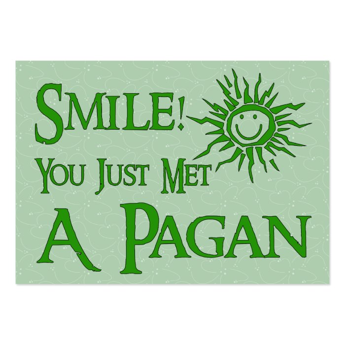 Pagan Smile Large Business Card