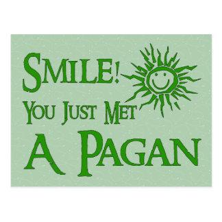 Pagan Smile Postcard