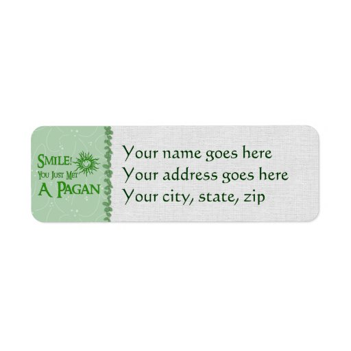 Pagan Smile Return Address Label