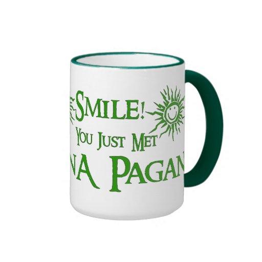 Pagan Smile Ringer Coffee Mug