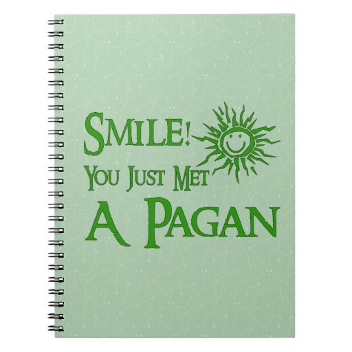 Pagan Smile Spiral Notebook