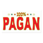 Pagan Star Tag Business Card Template