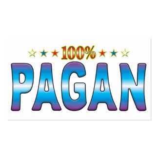 Pagan Star Tag v2 Business Card Template