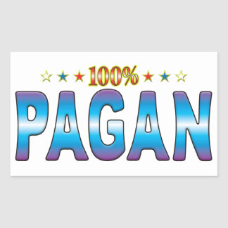 Pagan Star Tag v2 Rectangle Stickers