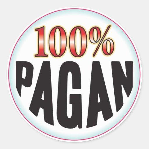 Pagan Tag Round Stickers