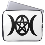 Pagan Triple Moon Pentacle Goddess Symbol Computer Sleeve