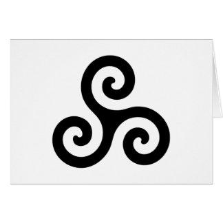 Pagan Triple Spiral Card