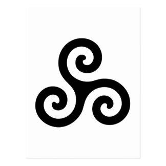 Pagan Triple Spiral Postcard