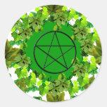 Pagan verde pegatinas