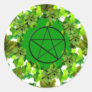 Pagan verde pegatinas redondas
