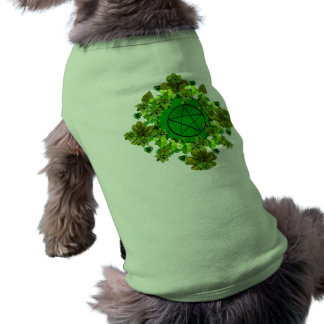 Pagan verde playera sin mangas para perro