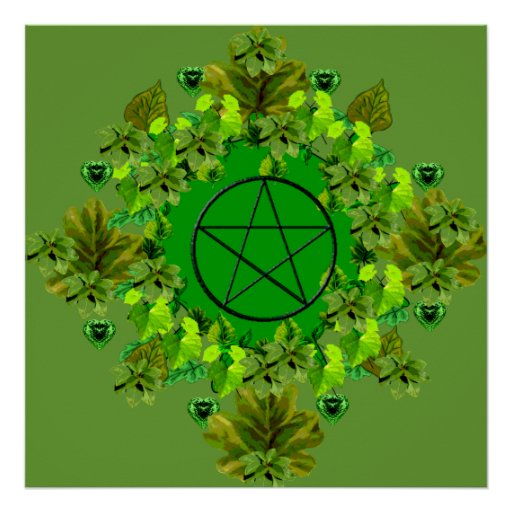 Pagan verde póster