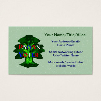 PAGAN VOTER BUSINESS CARD