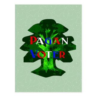 PAGAN VOTER POSTCARD