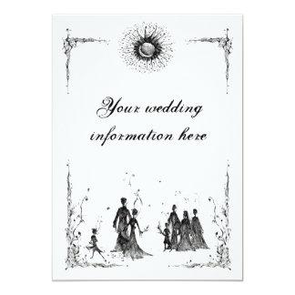 Pagan Wedding invite, Your wedding information ... Card