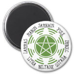 Pagan Wheel of the Year 2 Inch Round Magnet