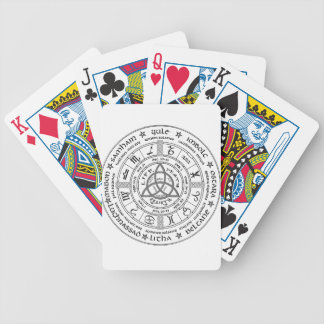 Pagan wheel of the Year Bicycle Playing Cards