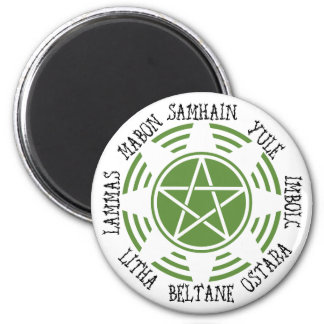 Pagan Wheel of the Year Refrigerator Magnets