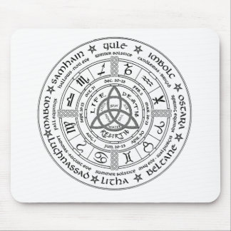 Pagan wheel of the Year Mouse Pad